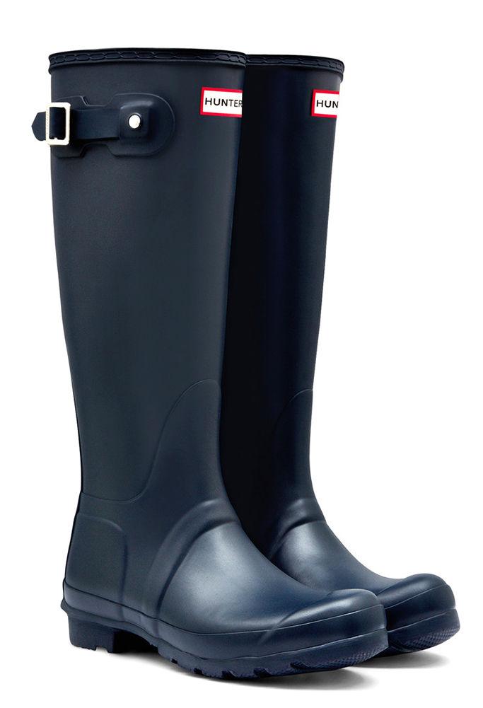 Hunter Boots Women's Original Tall Matte Navy - 9 M Women...