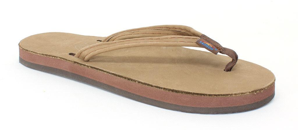 Rainbow Sandals Women's Single Layer Narrow Strap Dark Br...