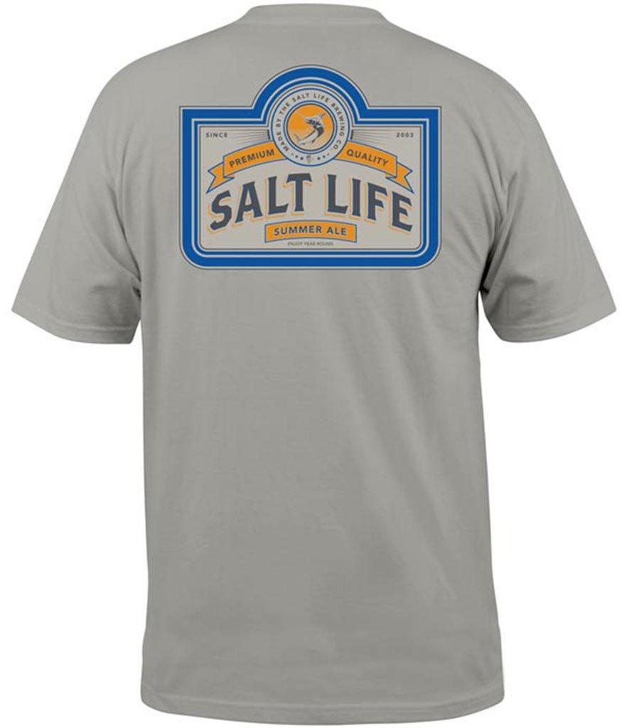 Salt Life Men s Brew Co Logo Tee Stone  291356da9
