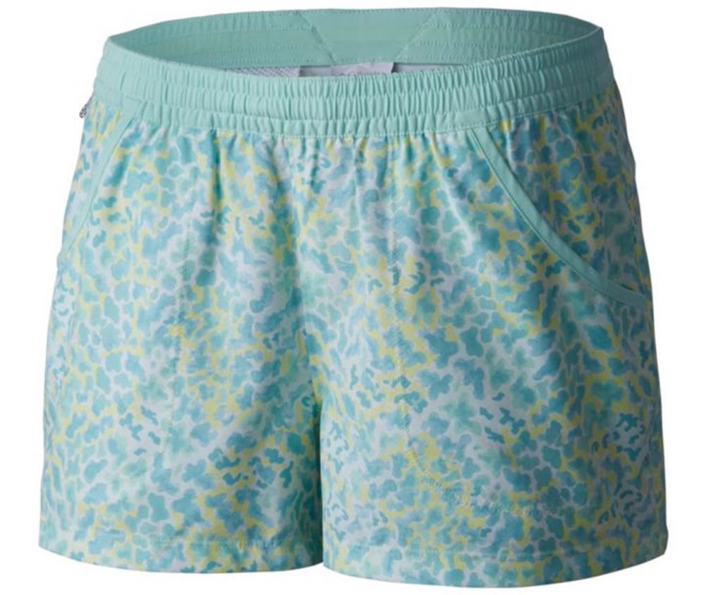 Columbia Women's Pfg Tidal Shorts Blueglass Coral Print -...